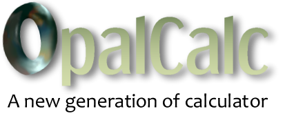 OpalCalc: A New Generation of Calculator